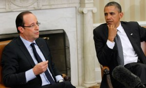 Barack Obama, Francois Hollande